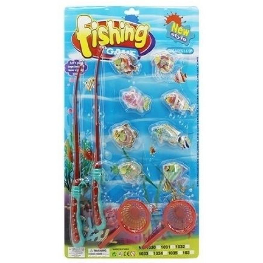 Игра Рыбалка №1031А (2 удочки) (58*35*5)