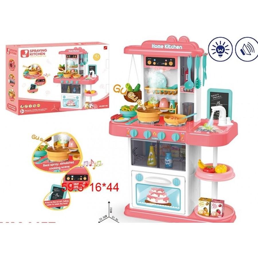"""Игровой модуль """"Кухня"""" № 889-152 (звук,свет, вода) 42 предмета (60*16*44)"""