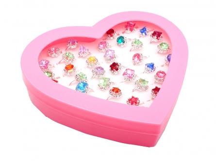 """Колечко для принцессы. """"Цветы и камни"""", 36 колечек, пластик (Арт. 200377874) по шт."""