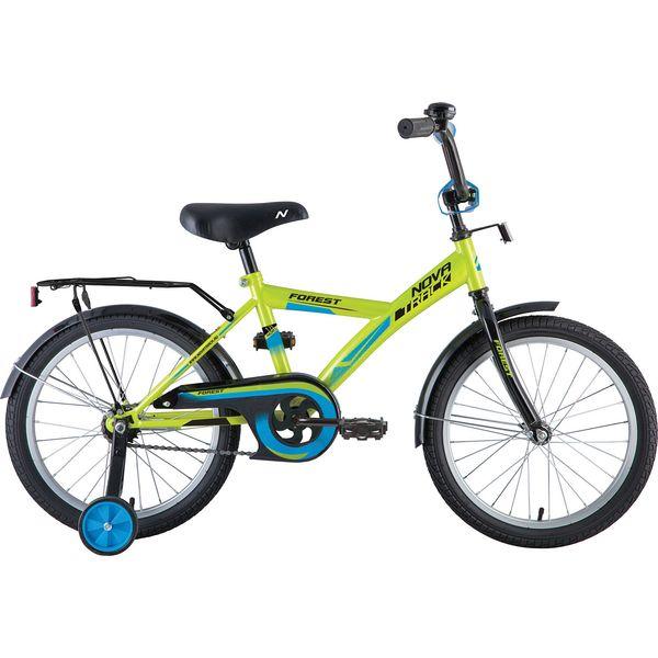 """Велосипед NOVATRACK 18"""", YT FOREST,17266 зелёный, тормоз нож., крылья, багажник черные."""