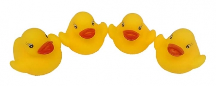 HC085363Резиновая игрушка-пищалка для купания. ДРУЖНАЯ КОМПАНИЯ-1 (4 шт.)
