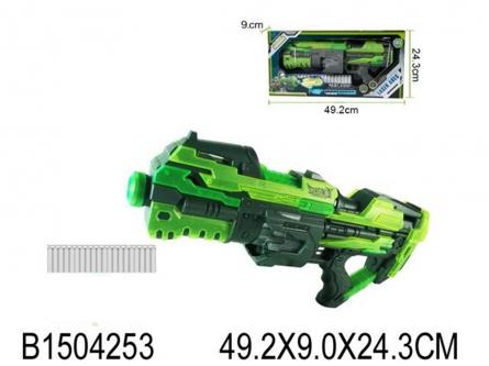 """1504253 Игрушечное оружие """"Военный арсенал"""". Бластер """"Космический воин"""" с софт-патронами."""