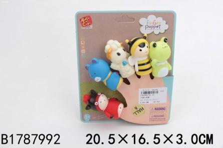 1787992 Серия Развивающая игрушка. Пальчиковый театр. Забавные животные