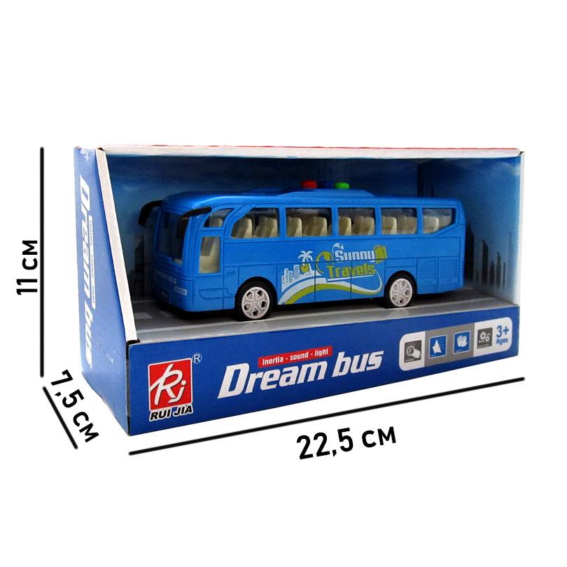 1576685 Машинка инерционная. 1:24 Автобус (22 см, свет, звук, в коробке).