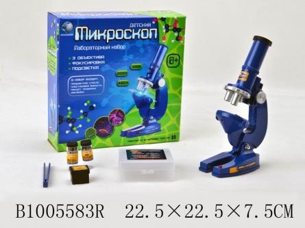 1005583R Игрушка оптическая, серия Всезнайка. Микроскоп. Научная лаборатория (23 см)