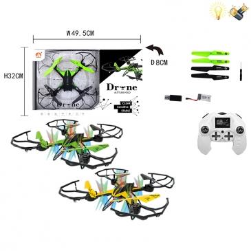 200169551 Квадрокоптер Р/У DRONE (USB, свет, автовозврат, 4угла наклона, 6 направ.)