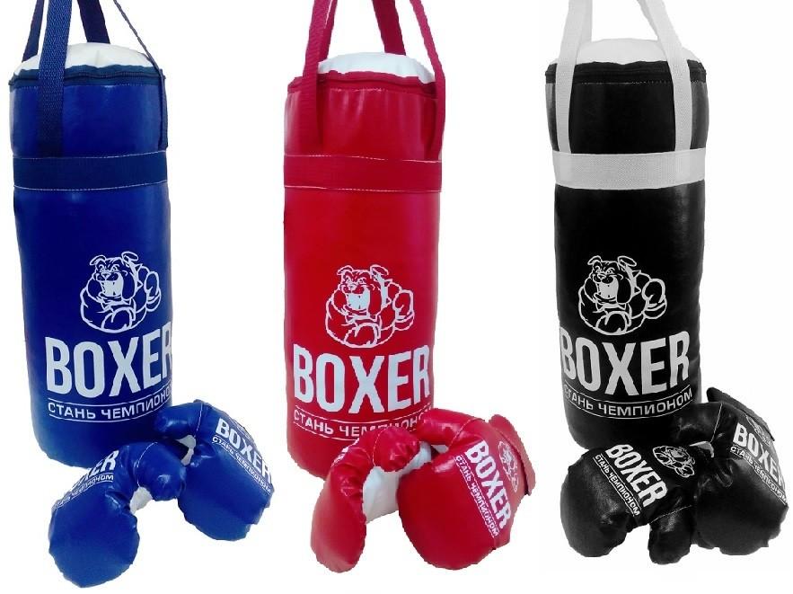 Боксерский набор №2А  40см (груша - экокожа