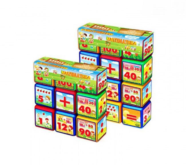 Набор кубиков Математика 12эл (24шт) 09052