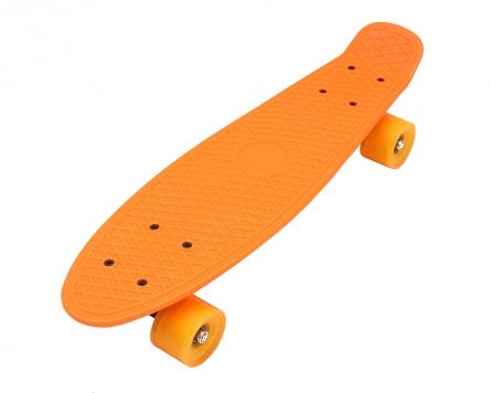 H17473 Скейтборд пластик. Классика (колеса ПВХ 56 см) (5 цветов микс)