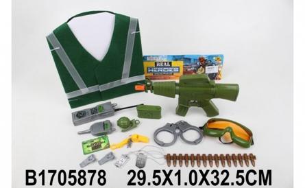 """1705878 Игрушечное оружие """"Военный арсенал"""". Набор военного (15 предметов, в пакете 30x33 см)"""