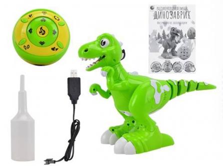 T616-D6595 Игрушка на радиоуправлении. Радиоуправл. динозаврик (свет, звук, пуль управл. 27 см)