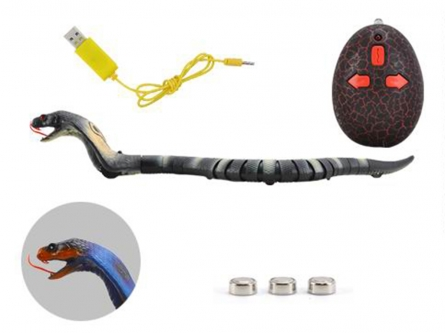 T236-D6673 Игрушка на радиоуправлении. Змея-робот (USB, свет, пульт управления, 36 см)