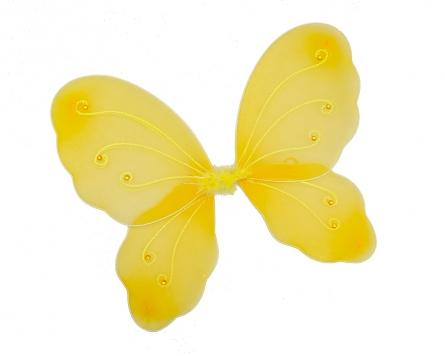 C32545 Карнавальные крылья. НЕЖНАЯ БАБОЧКА (с блестками и стразами, цвет микс) 46х42 см
