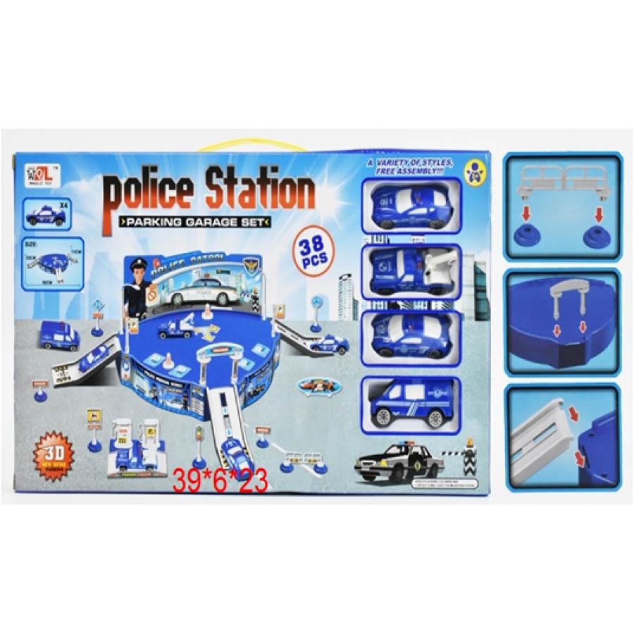 """Парковка №Р688-22 """"Полиция""""/38 предметов/коробка/39*6*23"""
