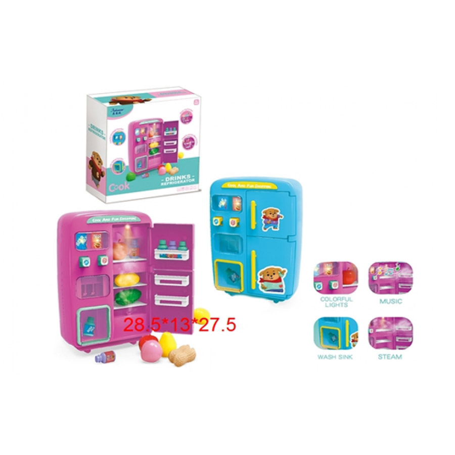 Игрушка Холодильник №QC-8B/звук, свет/коробка/29*13*28