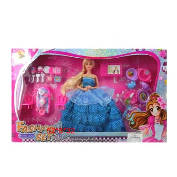 Кукла №1253-81 с набором посуды/коробка/52*6*32