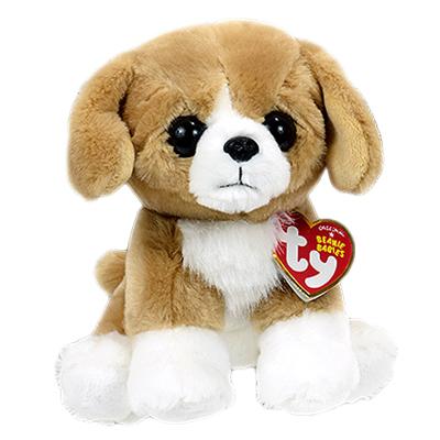 42269 Beanie Babies FRANKLIN - коричневая собака 15 см