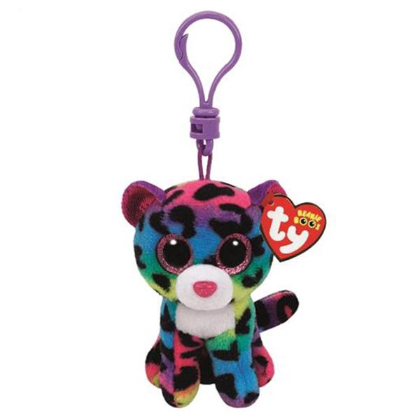 35012 Beanie Boo's  DOTTY- многокрасочный леопард, игрушка-брелок  10см