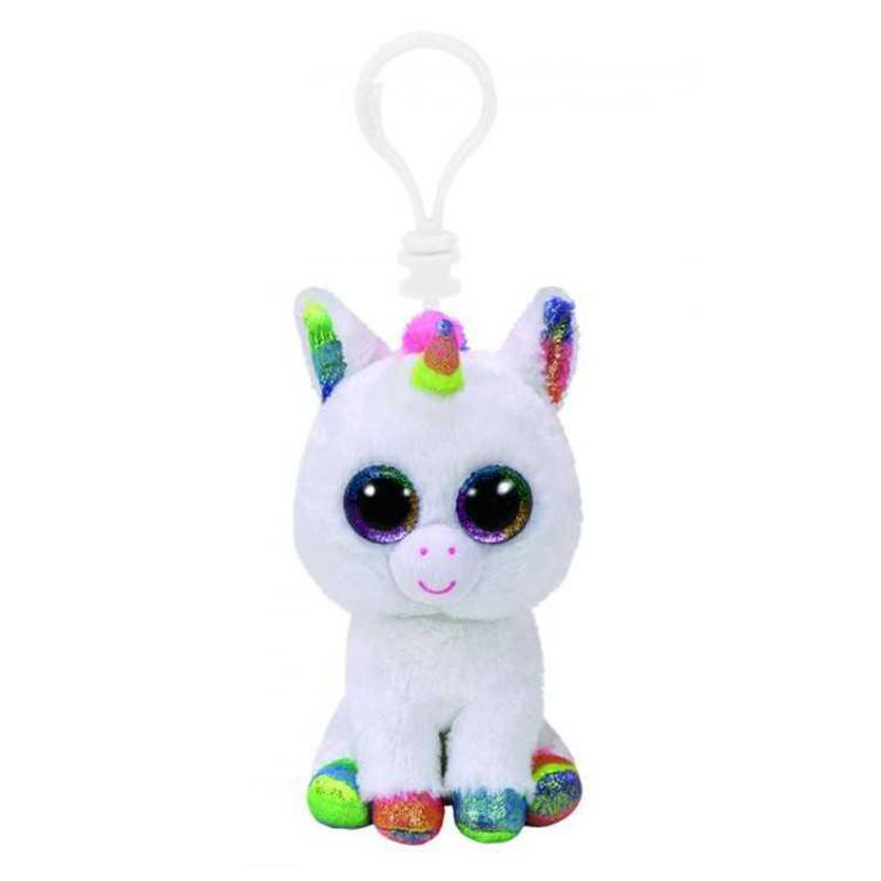 35040 Beanie Boo's  PIXY - белый единорог, 10 см. игрушка-брелок