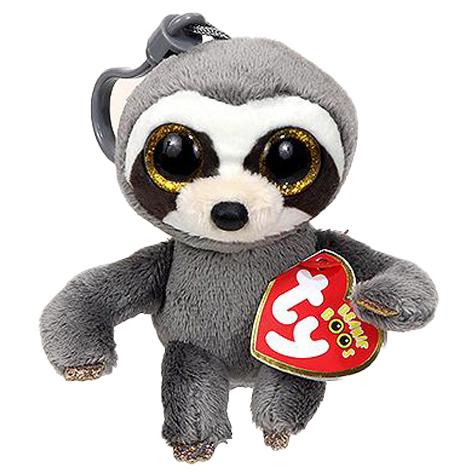 36559 Beanie Boo's DANGLER - серый ленивец, игрушка-брелок 10 см