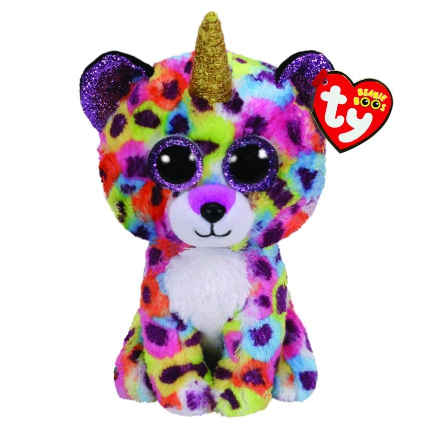 36453 Beanie Boo's GISELLE Разноцветный леопард с рогом 25 см