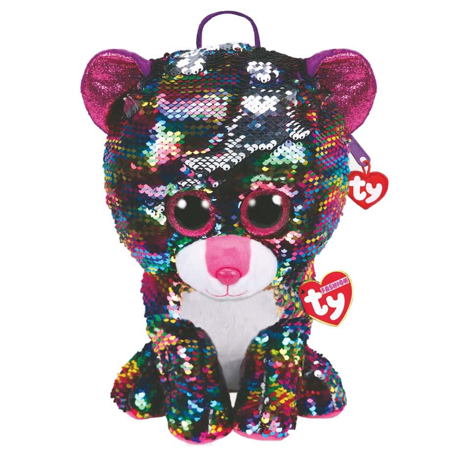 95024 Игрушка-рюкзак мягконабивная, DOTTY кошечка разноцветная с пайетками