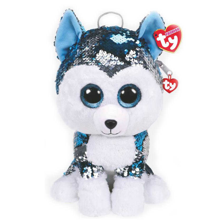 95025 Игрушка-рюкзак мягконабивная, собака SLUSH с пайетками