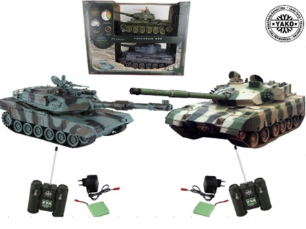 6122 Танковый бой. ZTZ-96A против M1A2 (2 танка Р/У 1:24, аккумул. в кор. 41x32 см)