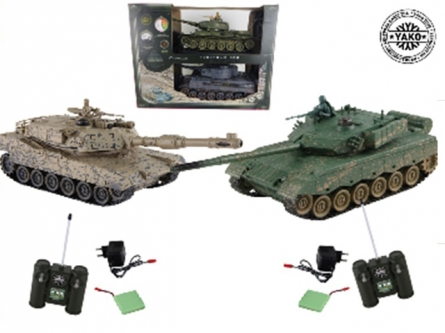 6128 Танковый бой. ZTZ-96A против M1A2 (2 танка Р/У 1:24, аккумул.)