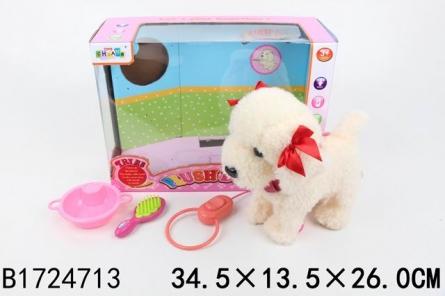 1724713 Серия Музыкальная игрушка. Щенок с бантиками (звук, аксессуары, 35 см)
