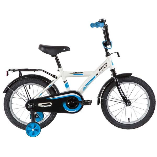 """Велосипед NOVATRACK 18"""", YT FOREST, белый, тормоз нож., крылья, багажник черные."""