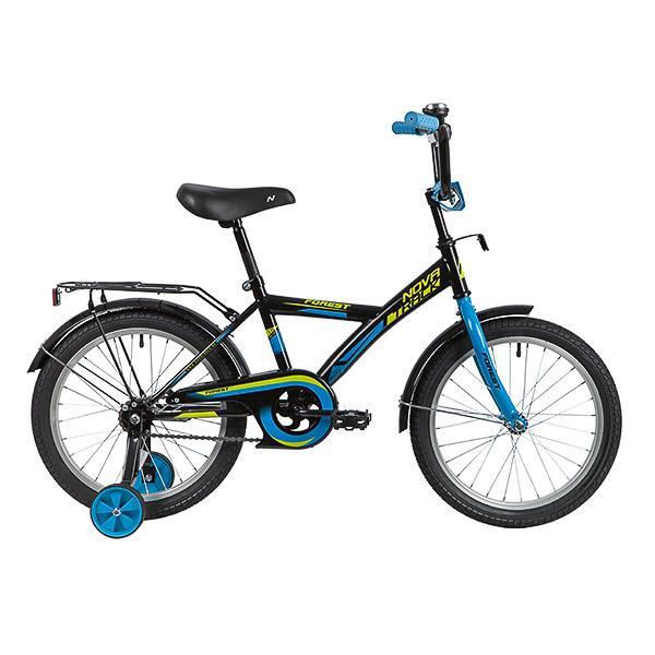 """Велосипед NOVATRACK 20"""" FOREST черный, тормоз нож, крылья, багажник, защита А-тип"""