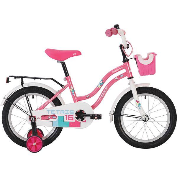 """Велосипед NOVATRACK 20"""" TETRIS, розовый, тормоз нож, крылья, багажник хром. 117060"""