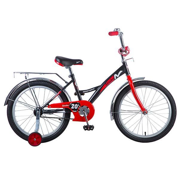 """Велосипед NOVATRACK 20"""" STRIKE, черный-красный."""