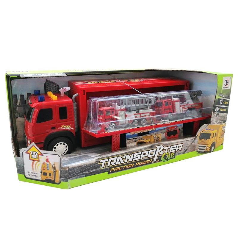 Пожарная машина+ машинки (свет, звук) 1188-21