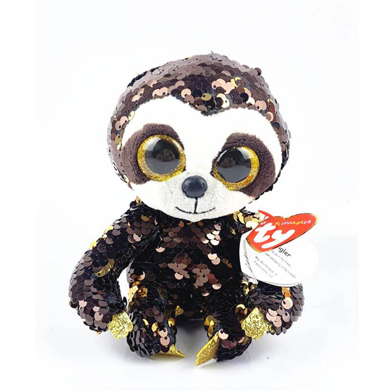 36668 TY Flippables DANGLER - ленивец в пайетках 15 см