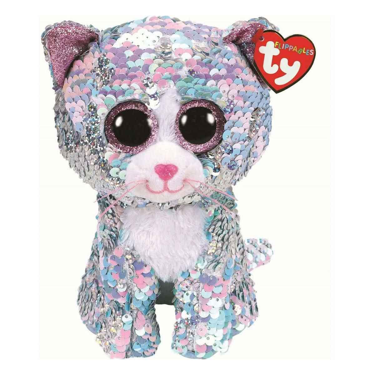 36674 TY Flippables WHIMSY - голубая кошка в пайетках 15 см