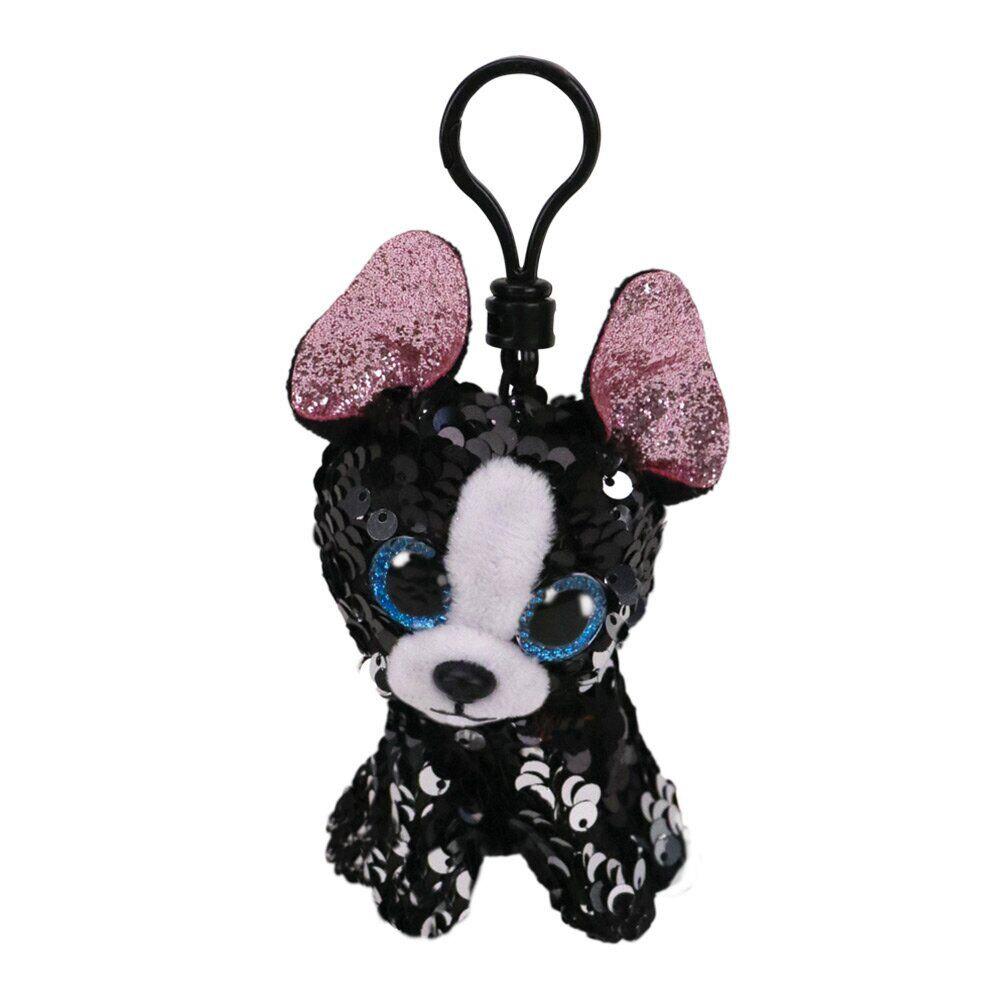 35316 TY Flippables PORTIA - собака в пайетках игрушка-брелок 10 см