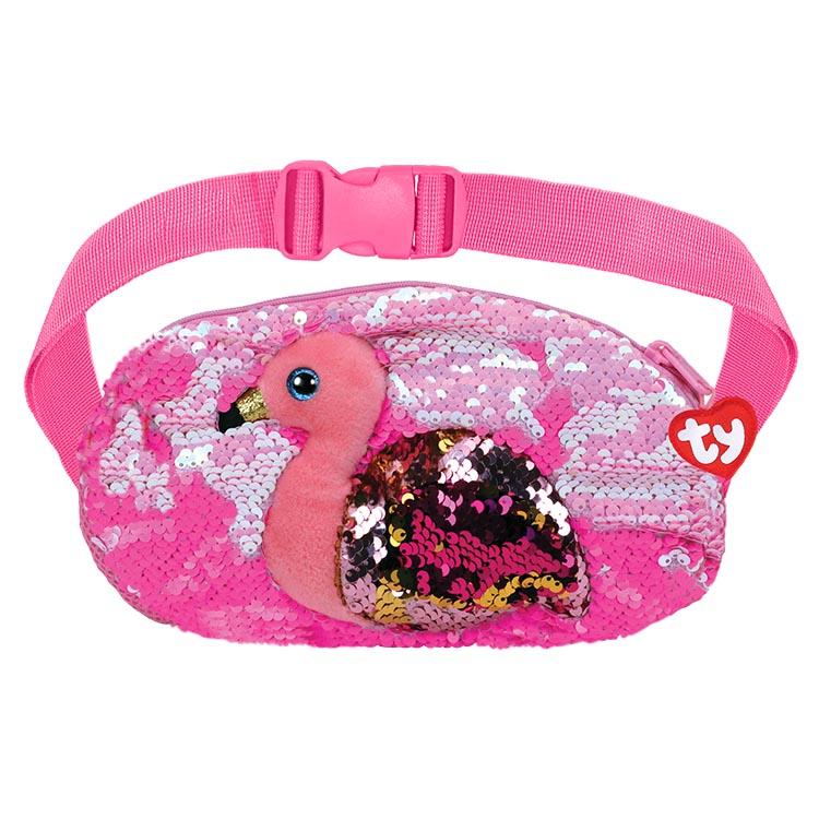 95800 GILDA Розовый фламинго - Сумка на пояс с пайетками
