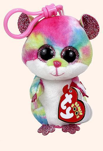 36558 Beanie Boo's RODNEY - разноцветный хомяк, игрушка-брелок 10см
