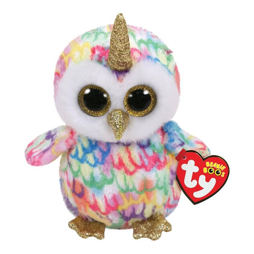36253 Beanie Boo's Enchanted - разноцветная сова с рогом 15см