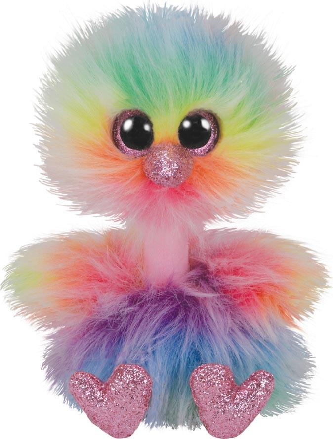 36281 Beanie Boo's ASHA - радужный страус 15 см