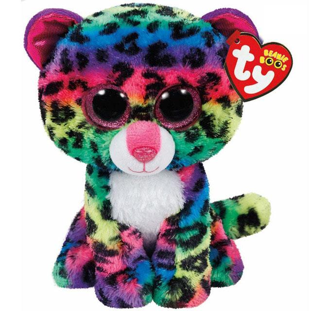 37074 Beanie Boo's  DOTTY- многокрасочный леопард, 25 см