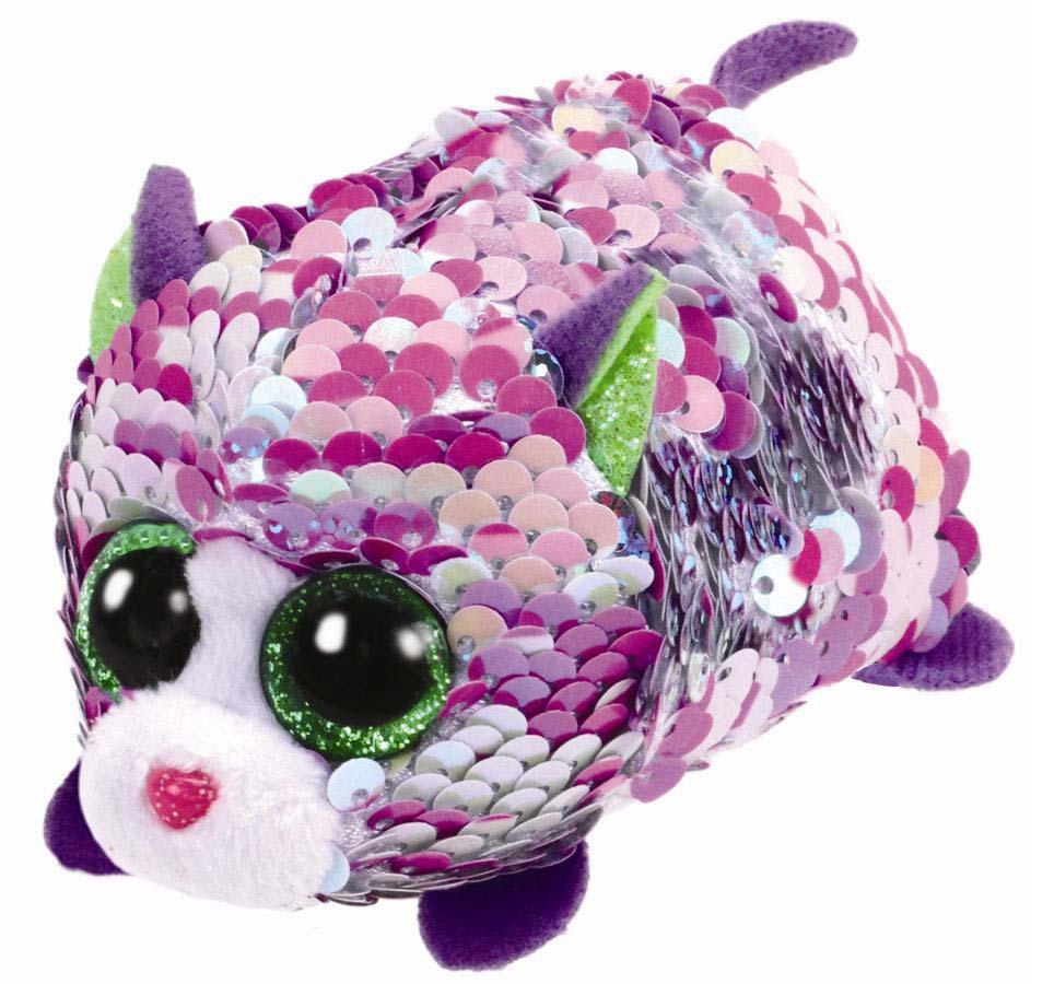 42408 TT FLIPPABLES LILAC - розовая кошка в пайетках 10 см