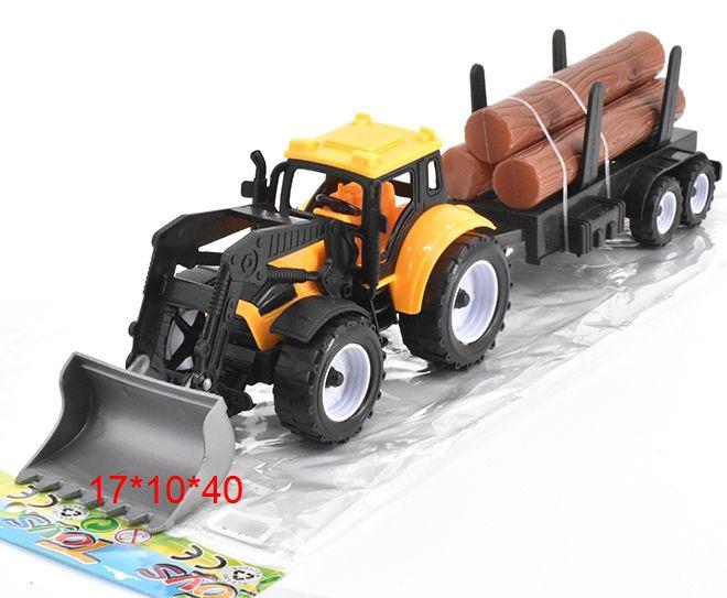 Трактор №669-43 сельскохозяйственный с ковшом и дровами/17*10*40