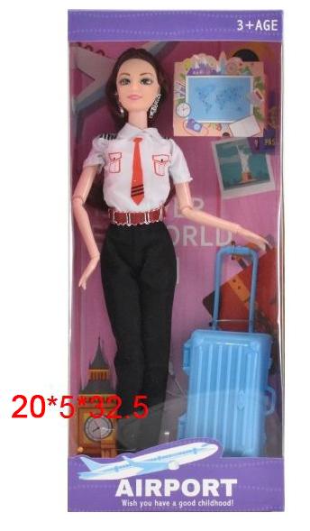 """Кукла №6689-C """"Пилотесса""""/руки и ноги на шарнирах/коробка/33*6*20"""