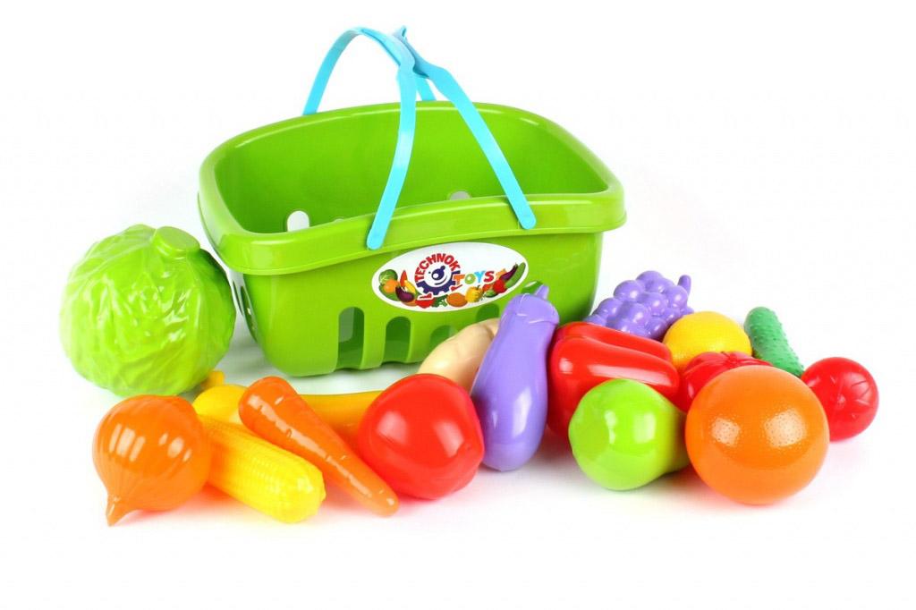 Набор овощи+фрукты в корзине 5354