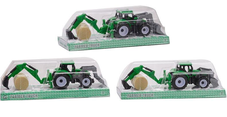 Трактор-экскаватор №9973A инерционный/колпак/22*6*7
