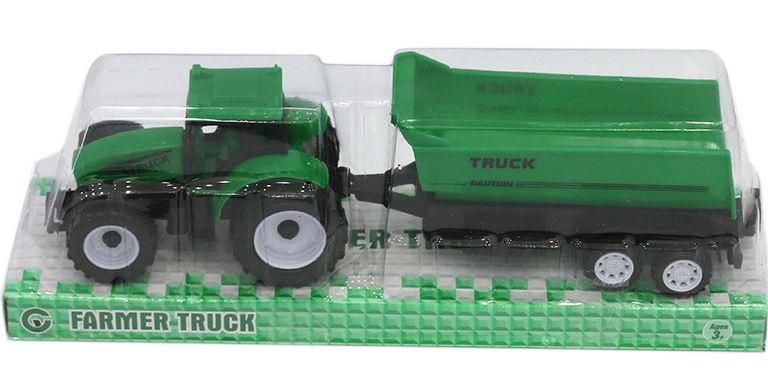 Трактор №9975-5A с прицепом-самосвалом инерционный/колпак/22*6*7
