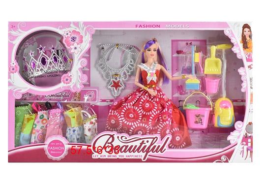 Кукла №658В с набором платьев и аксессуарами/коробка/58*6*33